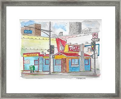 Tony Burger, Downtown Los Angeles, California Framed Print
