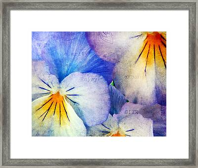 Tones Of Blue Framed Print