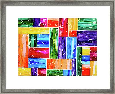 Tones Of Diversity Framed Print