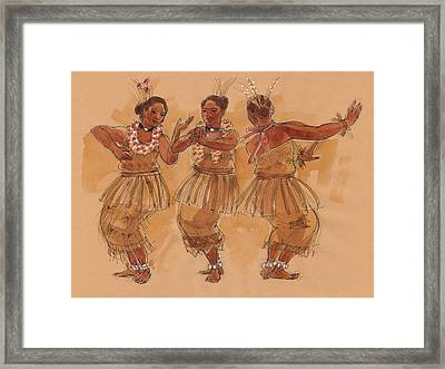 Tonga Dance From Niuafo'ou Framed Print