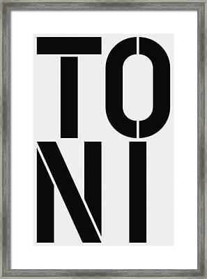 Toni Framed Print by Three Dots