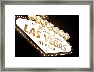 Tonight In Vegas Framed Print by Az Jackson
