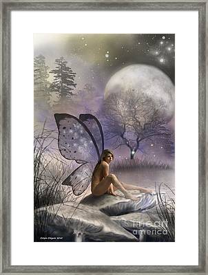 Tonight She Waits Framed Print by Crispin  Delgado