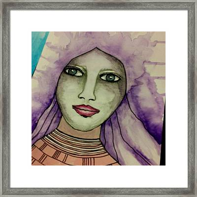 Tonights #face #portrait Framed Print