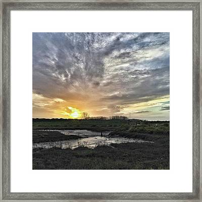 Tonight's Sunset From Thornham Framed Print