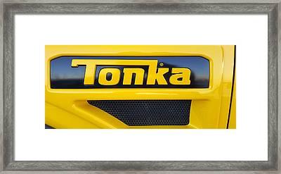 Tonka Truck Logo Framed Print