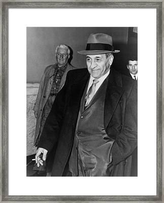 Tony Accardo, Successor Of Al Capone Framed Print by Everett