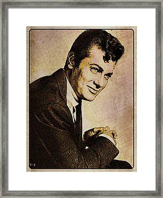 Tony Curtis Vintage Hollywood Actor Framed Print by Esoterica Art Agency