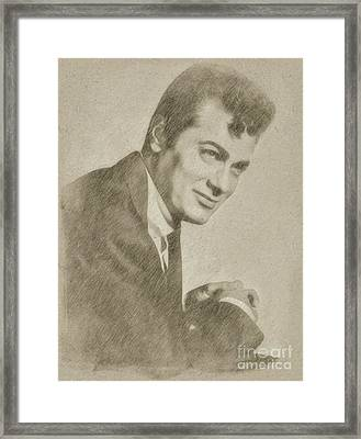 Tony Curtis Vintage Hollywood Actor Framed Print by Frank Falcon