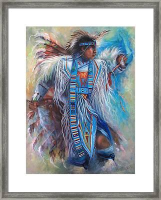 Tony Fuentas Fancy Dancer Framed Print by Gail Salitui