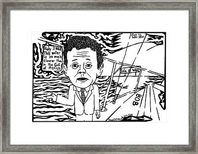 Tony Hayward Sailing For A Reason By Yonatan Frimer Framed Print