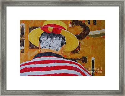 Tony Lover Of The Arts Framed Print