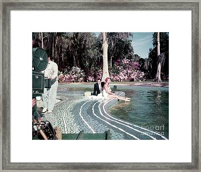 Tony Martin And Esther Williams Framed Print by The Harrington Collection