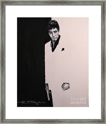 Tony Montana - Scarface Framed Print by Eric Dee