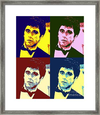 Tony Montana Pop Art Framed Print by Pd