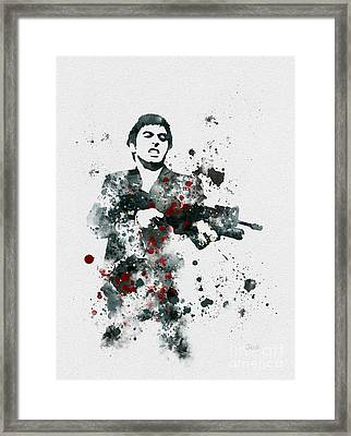 Tony Montana Framed Print by Rebecca Jenkins