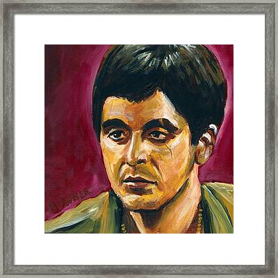 Tony Montoya Framed Print by Buffalo Bonker