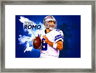 Tony Romo Framed Print by Semih Yurdabak