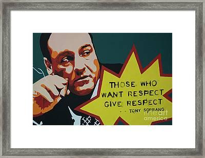 Tony Soprano Framed Print by Krystsina Yatsevich