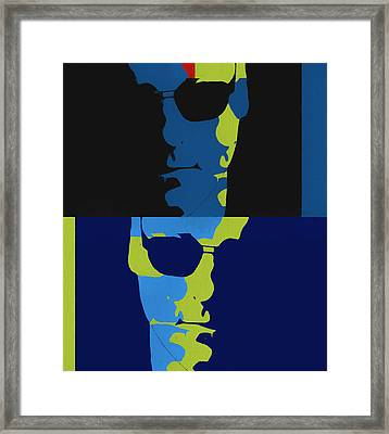 Tony Soprano Pop Art Framed Print by Dan Sproul