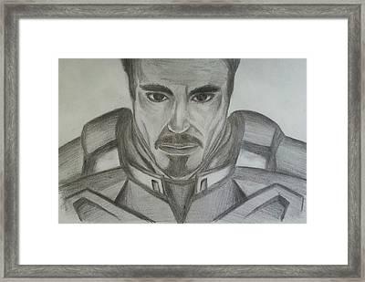 Tony Stark Framed Print by Andrew Chan