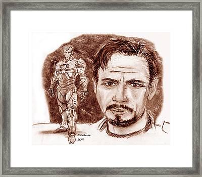 Ironman Framed Print by Chris  DelVecchio