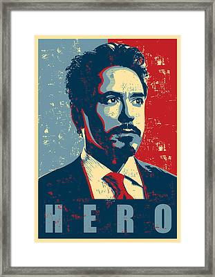 Tony Stark Framed Print by Caio Caldas