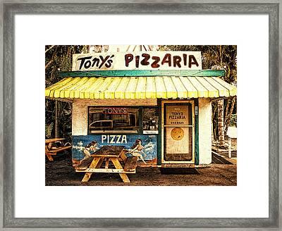 Tony's Pizzaria Framed Print by Ron Regalado