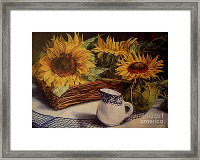 Tony's Sunflowers Framed Print