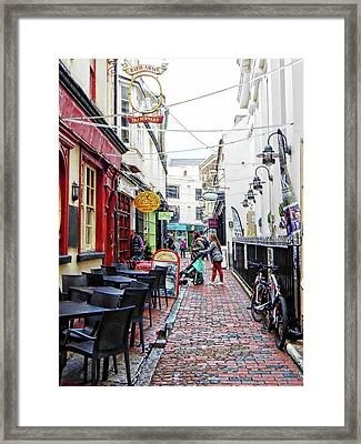 Too Early To Eat In The Lanes Brighton Framed Print by Dorothy Berry-Lound