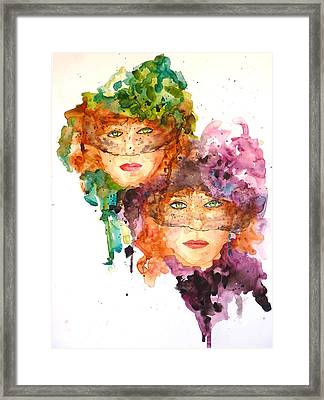 Framed Print featuring the painting Too Faced by P Maure Bausch
