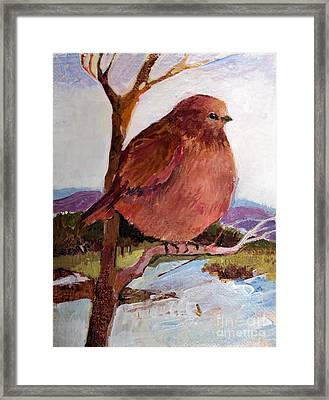 Framed Print featuring the painting Too Fat To Fly by Diane Ursin
