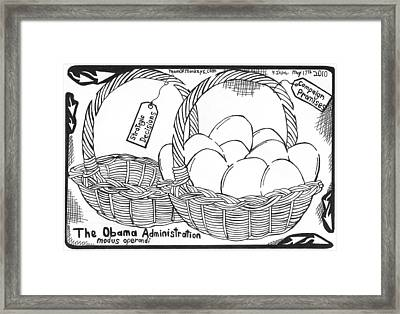 Too Many Eggs In One Basket By Yonatan Frimer Framed Print by Yonatan Frimer Maze Artist