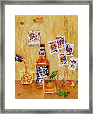Too Many Jacks Framed Print by Karen Fleschler