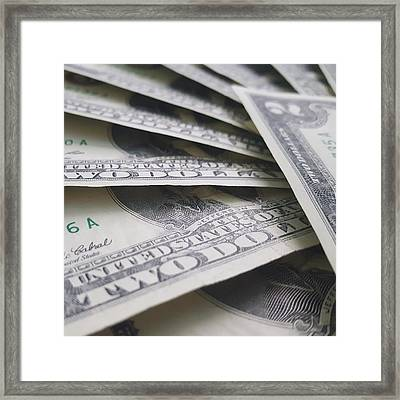 Too Many Two Dollars Framed Print by Edward Mills