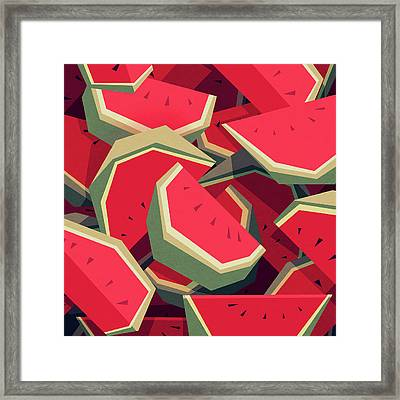 Too Many Watermelons Framed Print