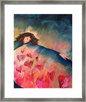 Too Much Love To Contain Framed Print