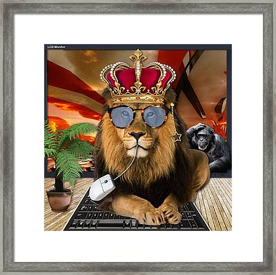 Too Much Monkey Business Framed Print