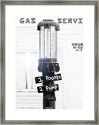 Too Pooped To Pump Framed Print