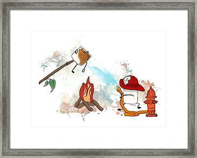 Too Toasted Illustrated Framed Print by Heather Applegate