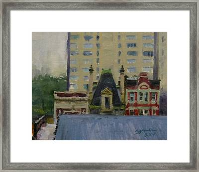 Too Wet To Paint Outdoors  Framed Print by Peter Salwen
