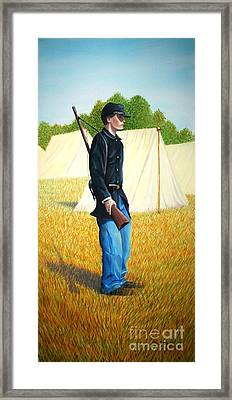 Framed Print featuring the painting Too Young by Stacy C Bottoms