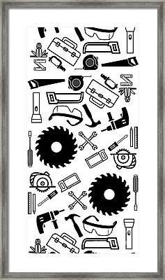 Tool Belt 1 Phone Case Framed Print