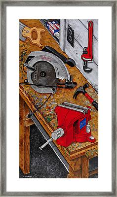 Tool Time Framed Print by Rich Travis
