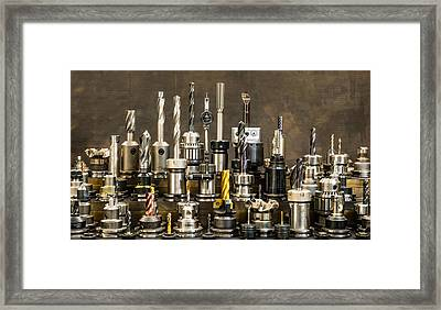 Toolmakers Cutting Tools Framed Print by Paul Freidlund