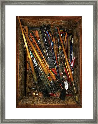 Tools Of The Painter Framed Print