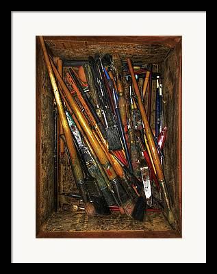 Pallet Knife Photographs Framed Prints