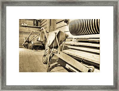 Tools Of The Trade Framed Print by Andrew Crispi