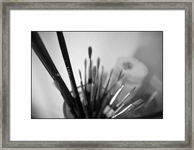 Tools Of The Trade Framed Print by Julia Bridget Hayes