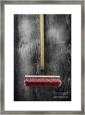 Tools On Wood 14 On Bw Framed Print by YoPedro